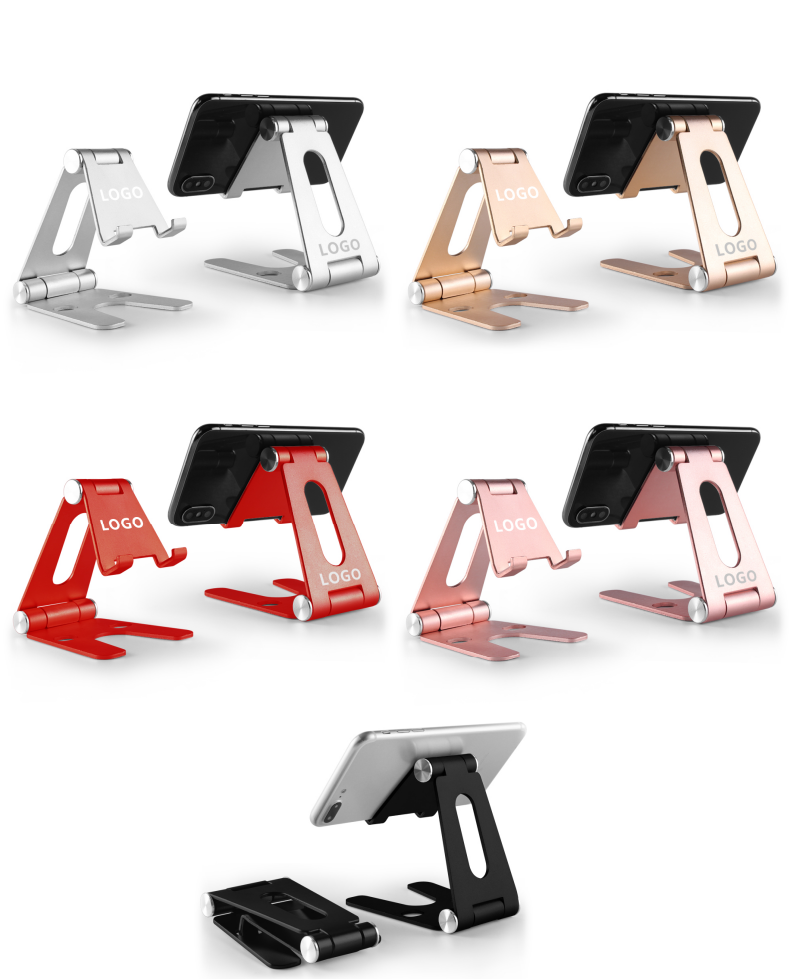 2020 Super Hot Foldable Aluminum Alloy Desk Mobile Phone Holder, Table Metal Stand 270-degree Ration Phone Holder Stand