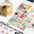 Custom colorful decorative bullet journal planner stickers