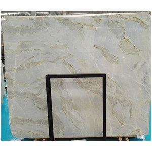 Light Blue sky white clouds marble stone onyx with green veins for counter top, floor tile, wall strip etc