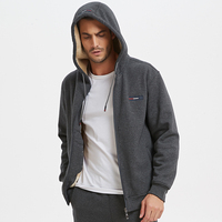 Men's long warm jacket, thick warm casual jacket, solid color