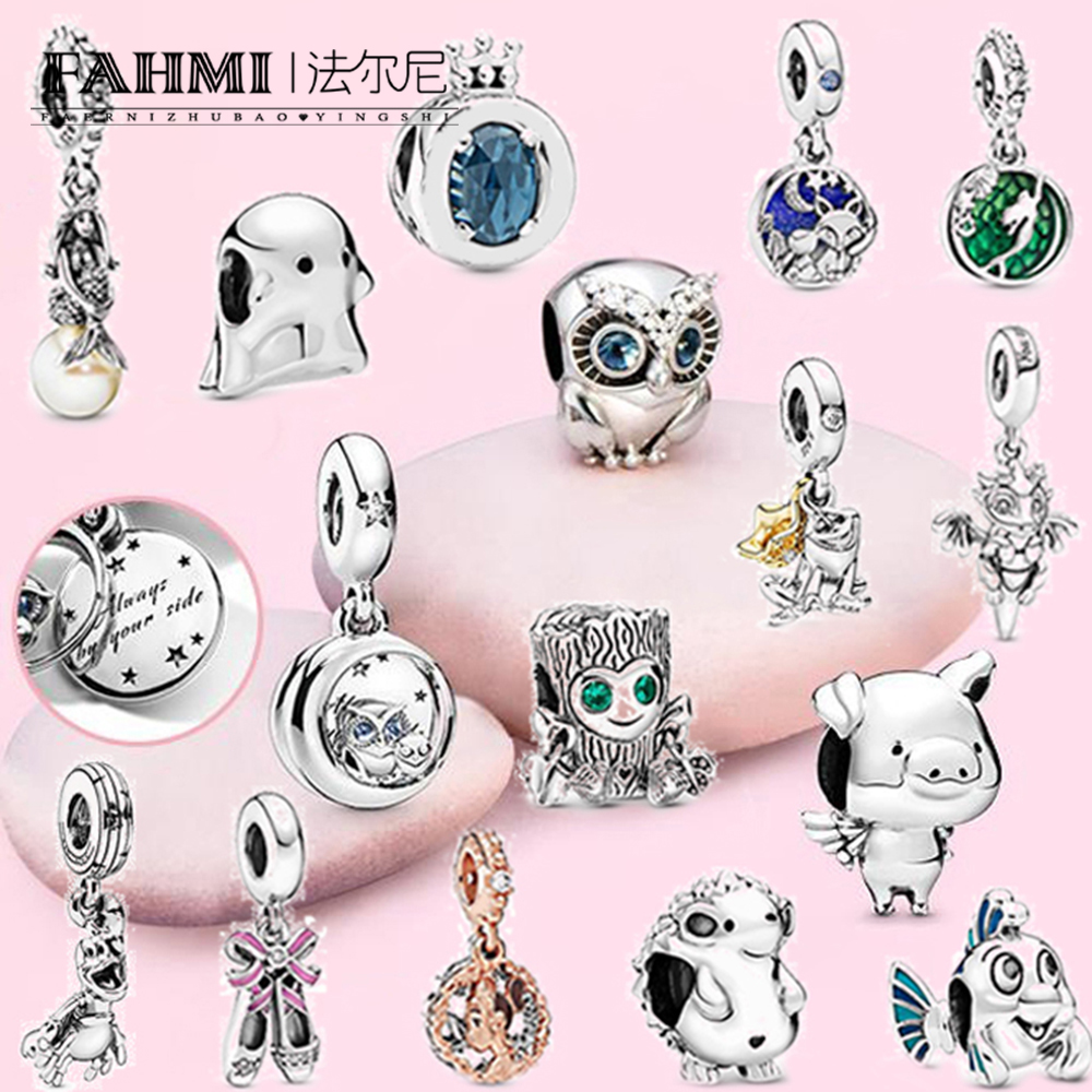 FAHMI 100% 925 Sterling <strong>Silver</strong> (Preview, Launched One After Another) 2019 Autumn Original Charms DIY Jewelry Making Berloque