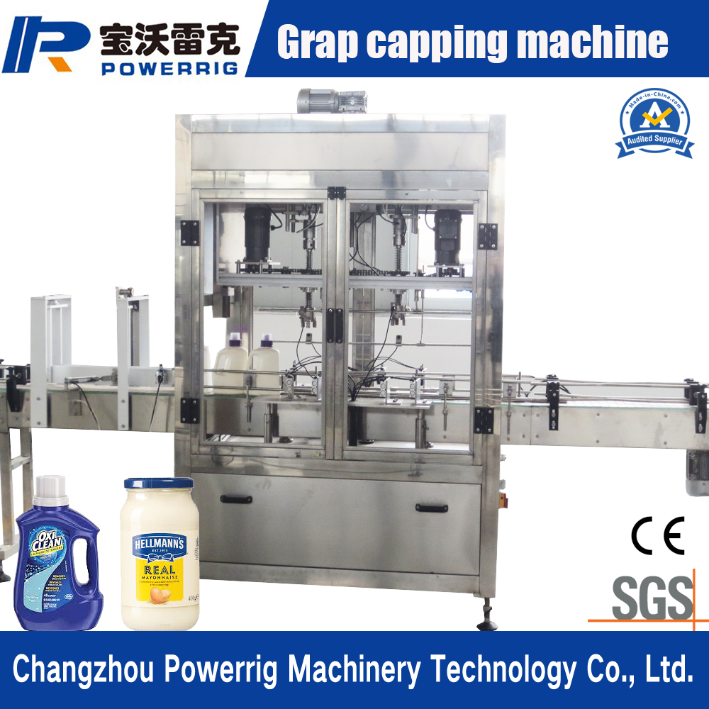 Automatic plastic bottle glass bottle screw capping machine