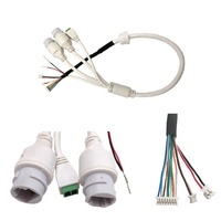 poe cable RJ45 females security cctv cables with audio video power cables and cameras