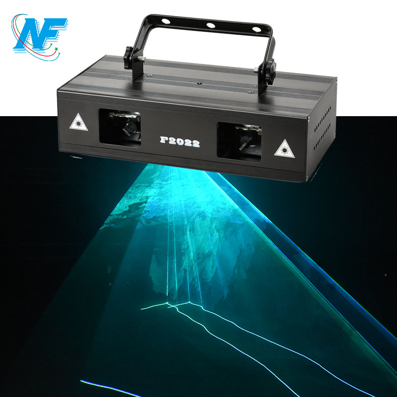 2 heads blue laser stage lighting ktv party 1000mw laser light