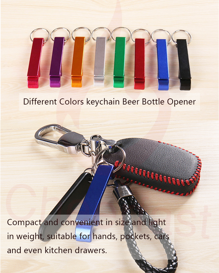 Beautiful and support customized keychain bottle opener custom logo