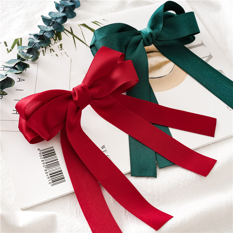 Fashionable bowknot ribbon hair clip long ribbon spring hair clip hair accessories girl