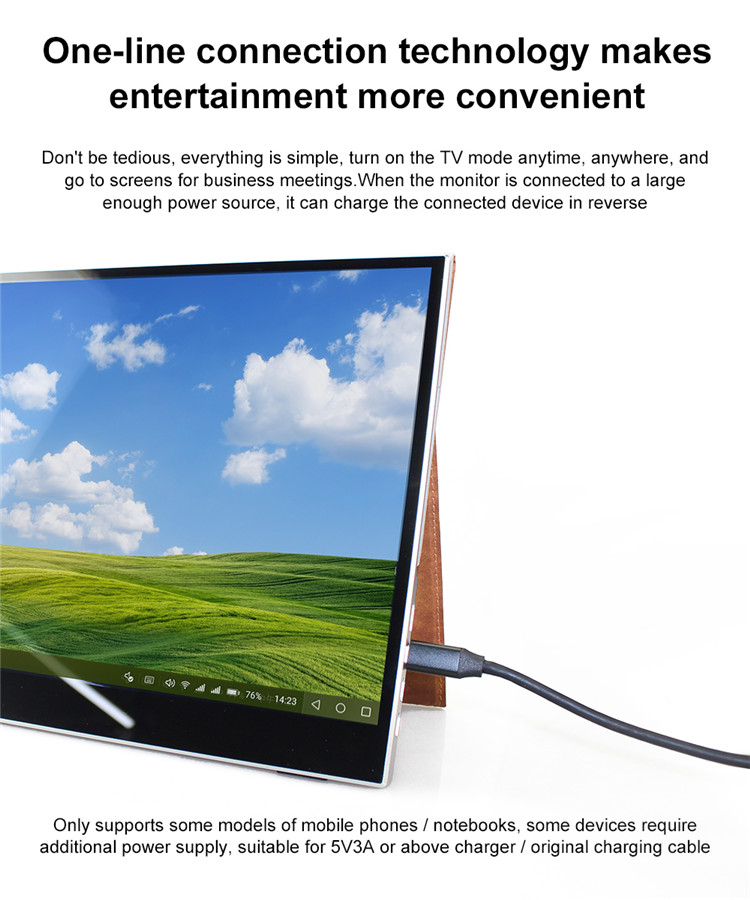 2020 new product 15.6 inch Full-fit Screen Switch Mobile Phone External Convenient Laptop Extended Portable Monitor