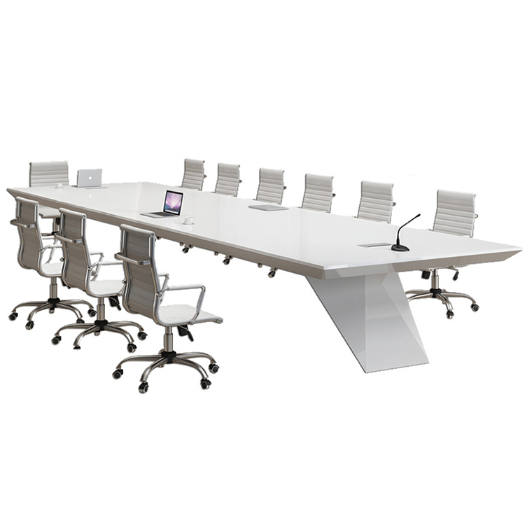Customizable office desk High end morden office meeting table piano paint white conference table