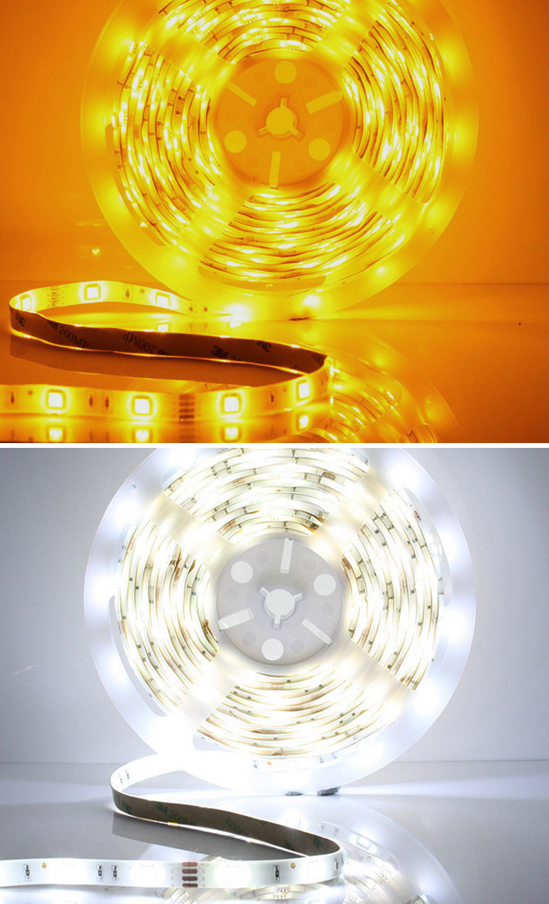 12V Dimmable LED Ribbon IP65 Waterproof DIY Indoor Kitchen Bar Celebration Decoration 6500K White with Dimmer Adapter