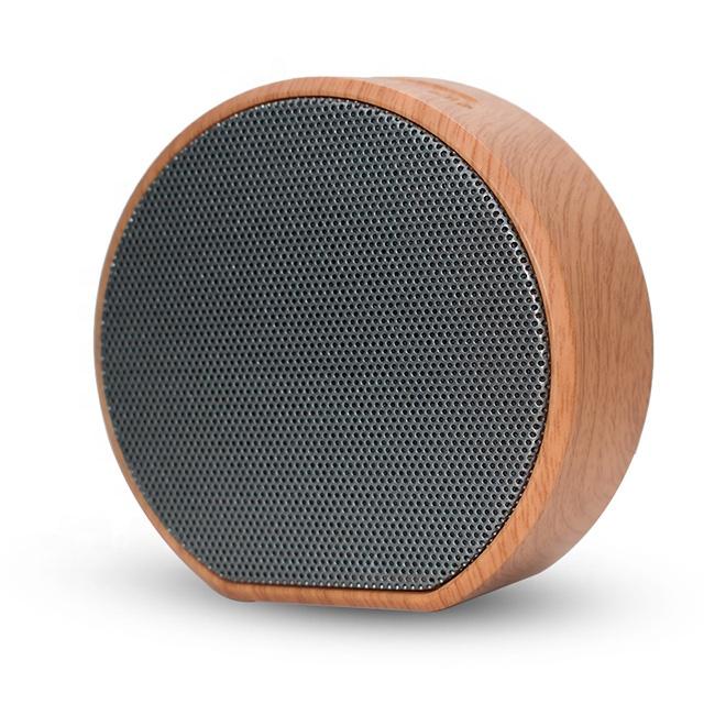 Wanggan A60 USB charging Wood grain custom bluetooth speaker wireless card speaker  for FM radio