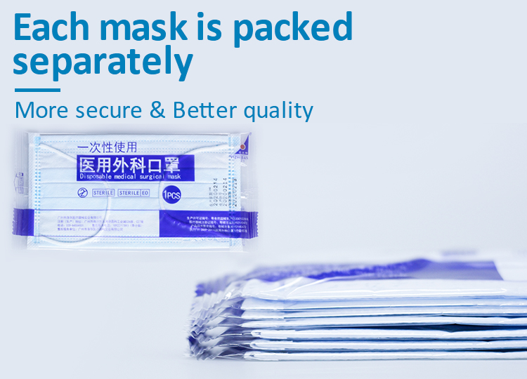 In Stock China Facemask 3 Ply Earloop Masque Doctor Disposable Medical Face Mask