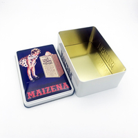 wholesale empty customized rectangle tin boxes for cookies
