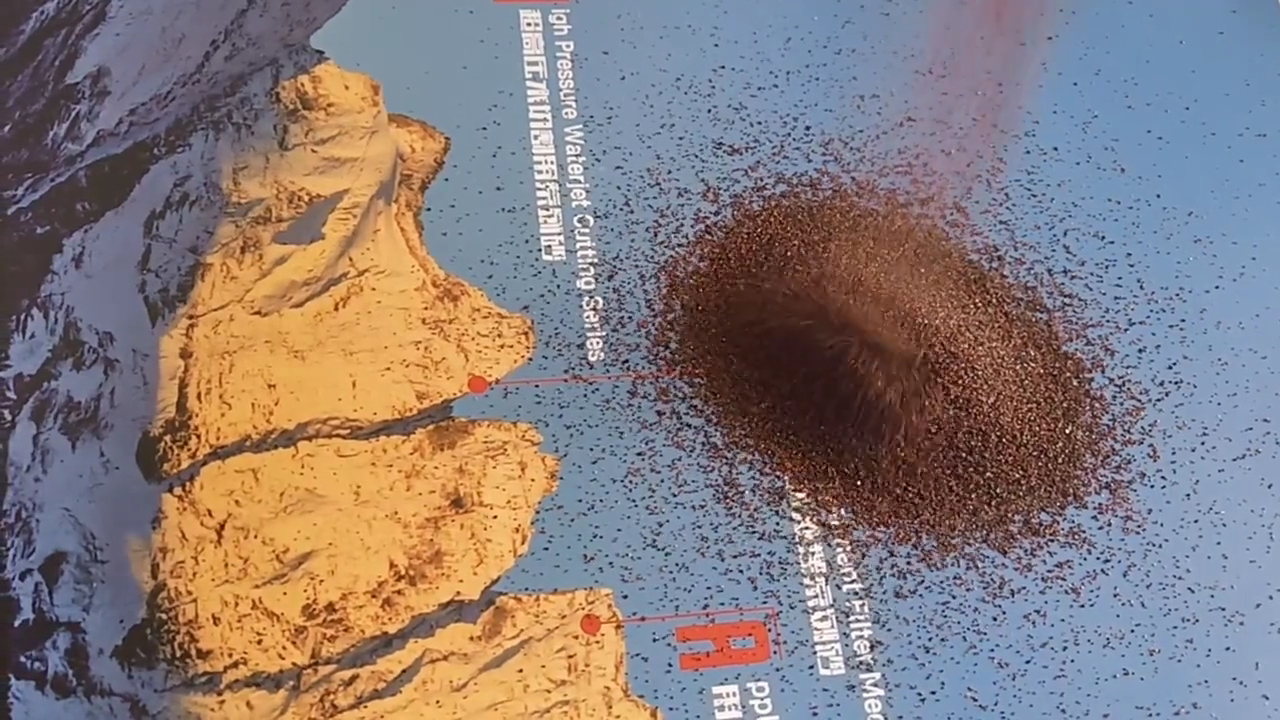 Natural Raw Material Bruto Vermelho Grão Abrasivo Granada Almandina Com Jacto de Areia para a venda