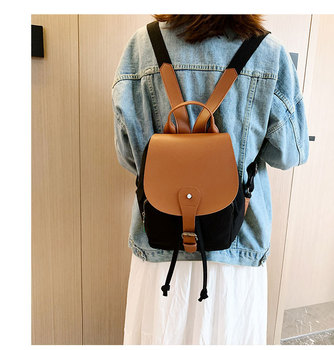 Latest korean style canvas backpack 	college bags backpack  backpack for school