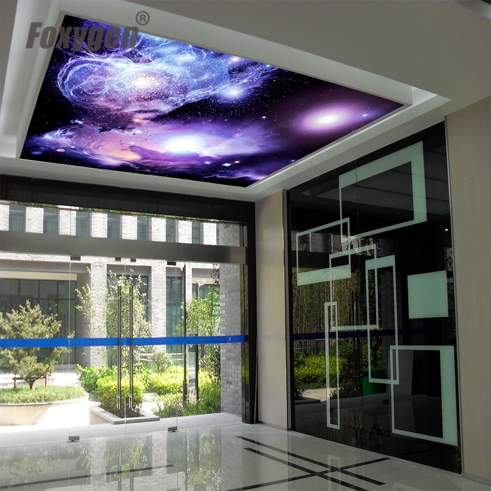 Cool design star space little twin PVC stretch ceiling film Home decoration