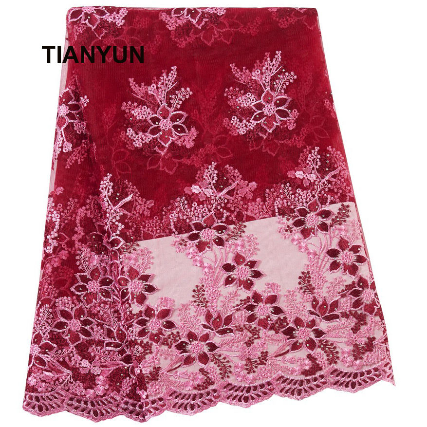 2020 Latest Style African Dry Lace Hot African 100% Polyester Guipure Lace Fabric