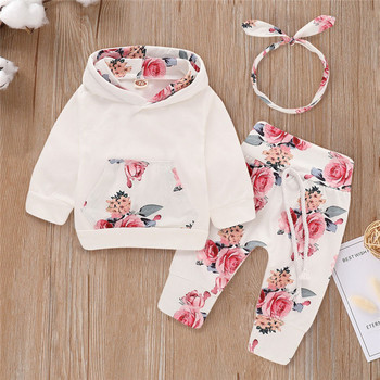 baby girls Clothing Sets toddler girl boutique outfits fall winter Hooded girls clothing sets