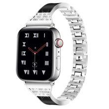 Алмазный ремешок для Apple Watch 5 4 полосы 40 мм 44 мм 38 мм 42 мм iWatch series 5 4 2 1 браслет из нержавеющей стали ремешок для женщин 2020 Новинка(Китай)