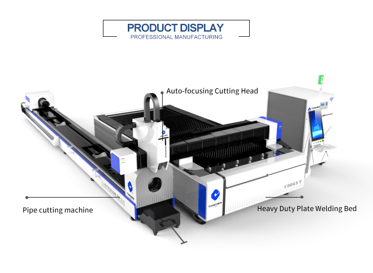 Industrial Heavy Duty pipe and sheet metal 2kw 3kw cnc fiber laser cutting machine prices