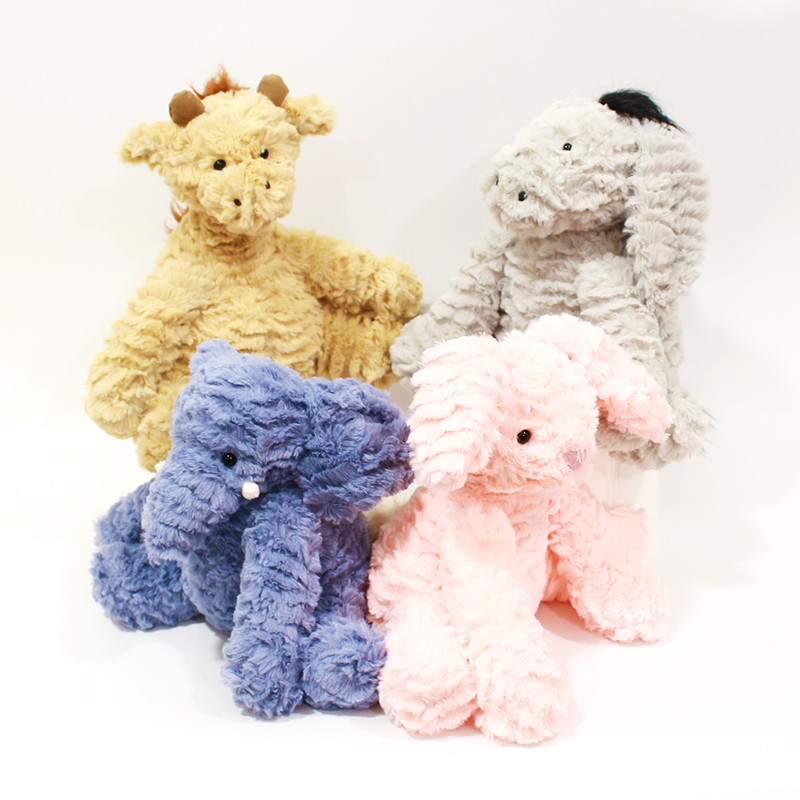 Wholesale Super Lovely Creative Animals <strong>Rabbit</strong>, Donkey, Deer, Elephant Plush Filling Toys