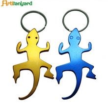 Förderung Antike Kupfer Messing <span class=keywords><strong>Gecko</strong></span> Form Flasche Opener Keychain