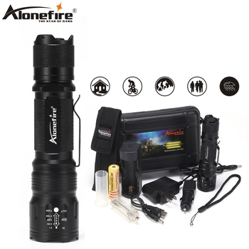 Alonefire TK105 CREE XP-L V6 LED Zoom Flashlight Waterproof Camping Tactical Bright light Torch AAA 18650 Rechargeable Battery