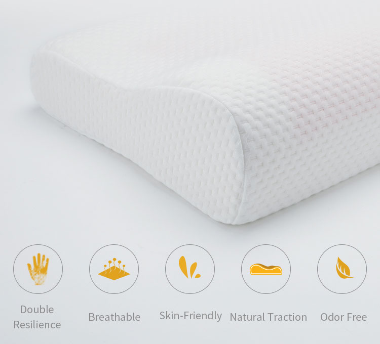 Lianda customized washable cover Wholesale Summer B-shaped Cooling Gel Memory Foam Pillow
