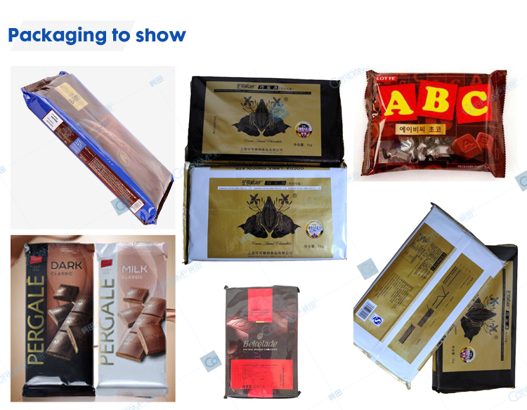 Foshan Manufacturer servo motor  multi function flow pack machine for chocolate bar energy bar  with CE certificate