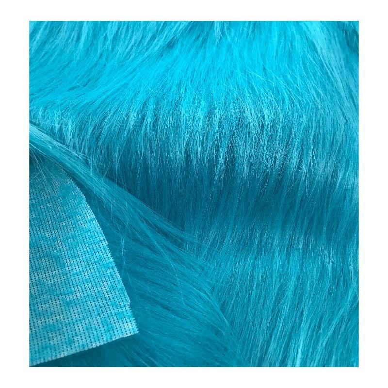 Acrylic/polyester plain color long pile faux fur toys fabric