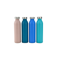 small mouth sports pot vacuum coffee water bottle stainless steel thermos with copper coating inside