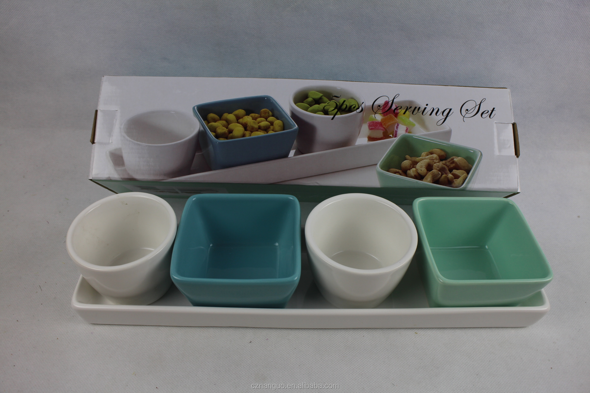 ceramic snack plate compartment plate with stand appetizer plate snack dish