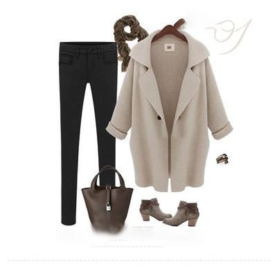 Ropa femenina con cuello doblado Oem Odm greatcoat abrigo largo de Cachemira lana mezclada abrigo de invierno para mujer
