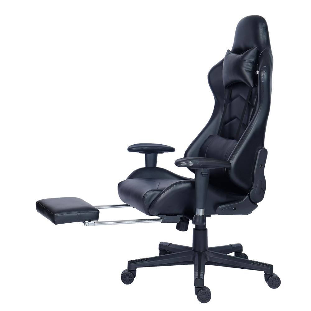 Factory Direct Ergonomic Office Racing Gaming Chair with Footrest