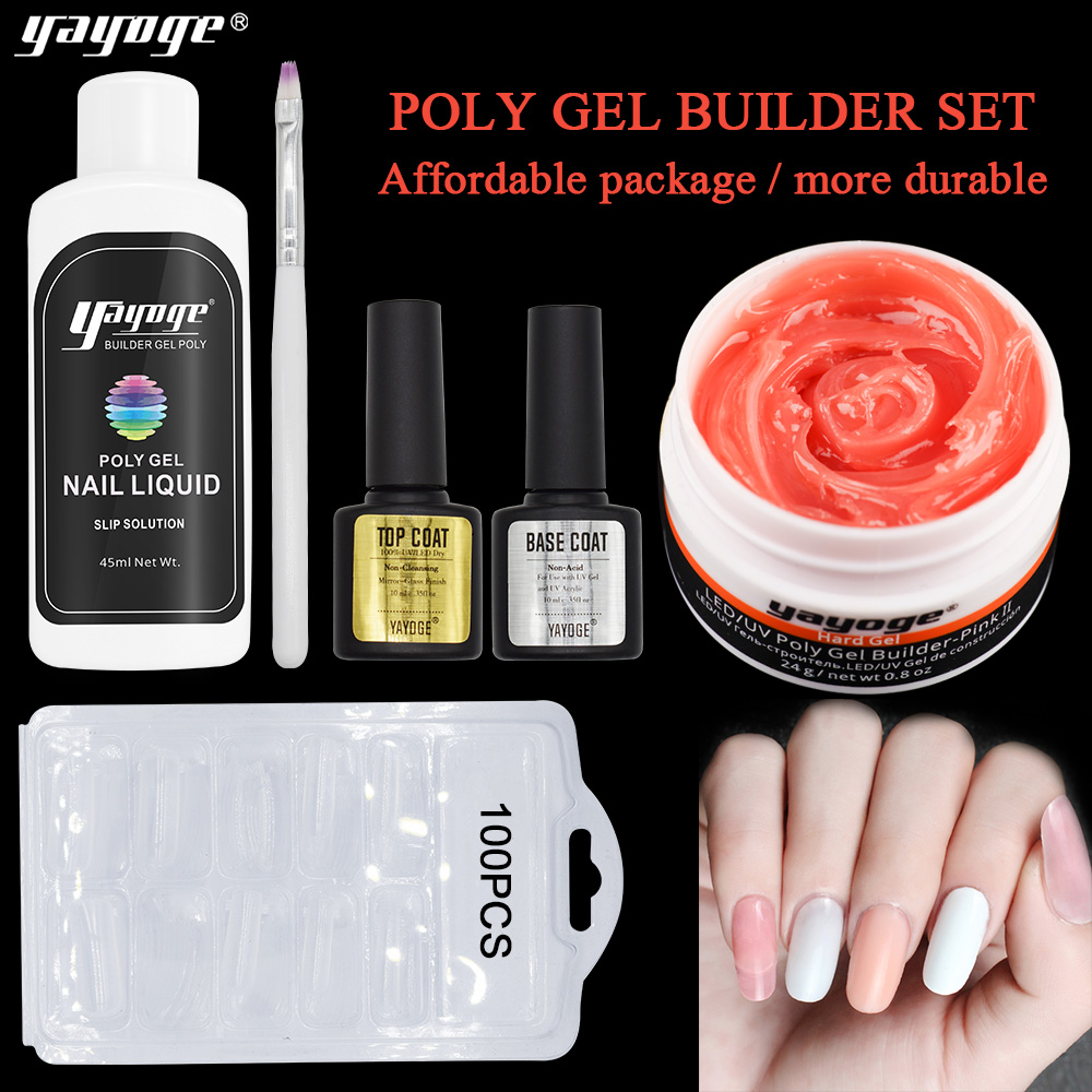 Professional Nail Art Salon ชุด Private LABEL เล็บ Builder เจลใสชุด Affinity