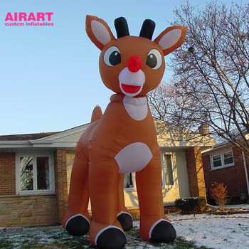 outdoor christmas decorations large inflatable deer, xmas inflatable reindeer mascot balloon
