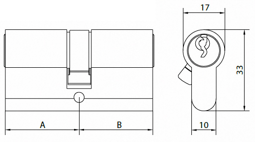 만능 열쇠 그스름 단면도 DIN18252 기준을 가진 유로 자물쇠 실린더