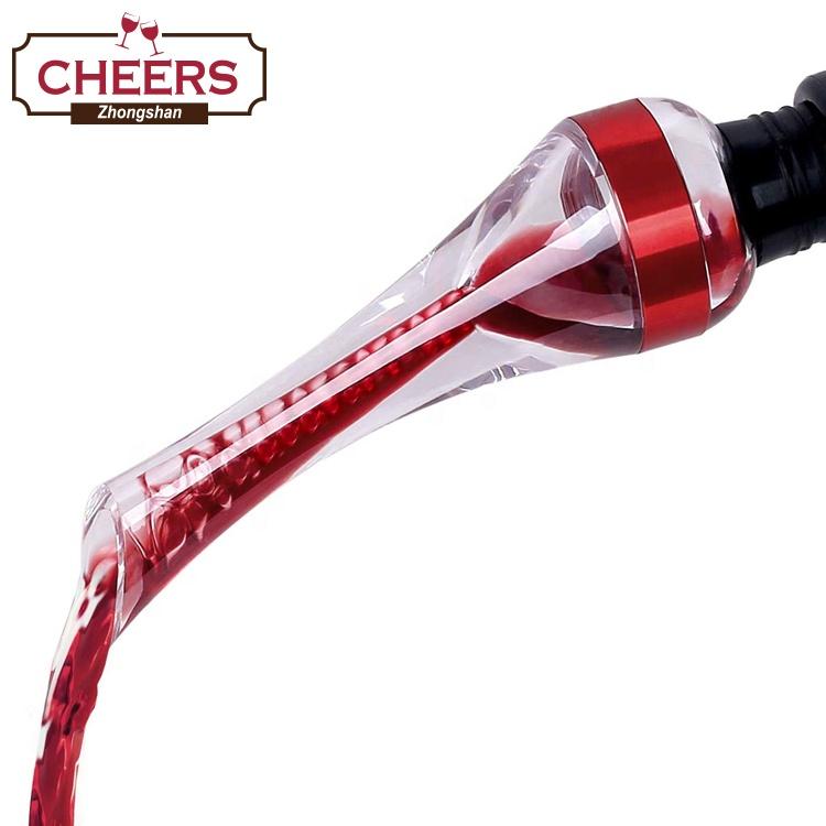 אמזון לא דולף יין Aerator Pourer, פרימיום מיידי לגין זרבובית, יין מפזר בתיבת צבע