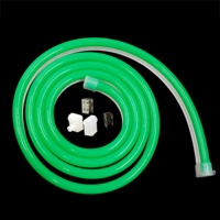 DC 12V/24V 10W/M green cover led neon flexible light tube,led neon flex hose
