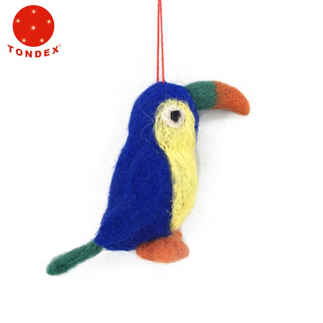 New style Christmas decorations handmade wool bird as gifts