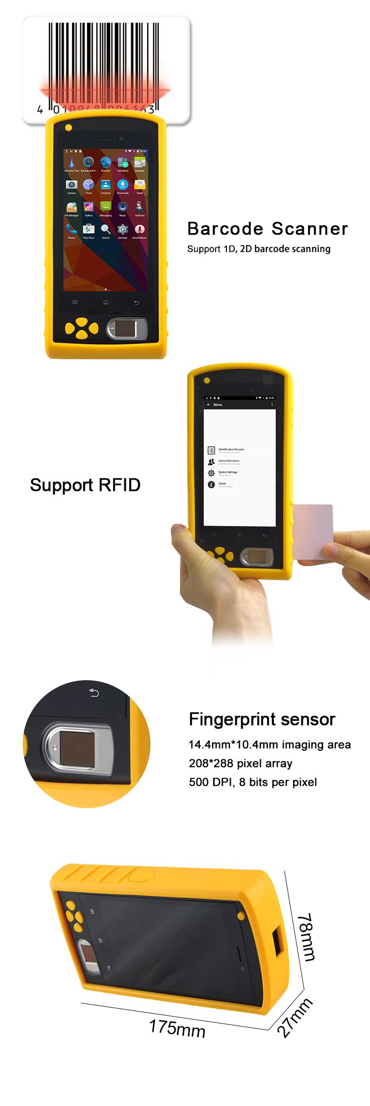 HF FP05 Waterproof Outdoor RFID Biometric Fingerprint Reader Time Attendance GPRS 3G WIFI