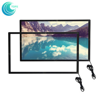 32 40 42 43 46 50 55 60 inch infrared multi diy plexiglass capacitive touch screen overlay kit for smart led tv
