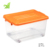 60l Hot Sale New Design Eco-friendly Plastic Storage Bins Transparent High Capacity Stackable Plastic Storage Box
