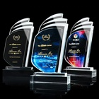 Trophy Award Awards Trophy Glass Trophy HBL Customized K9 Crystal Trophy Star Decorative Glass Award Sports Events Souvenirs Annual Meeting Awards Music Crystal Trophy