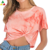 high quality new style crop top tie dye t shirts custom printing