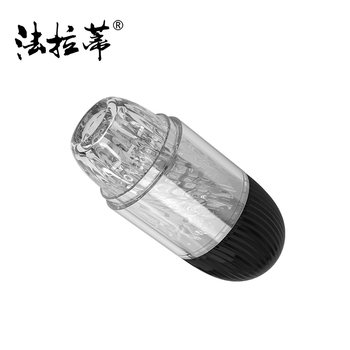 transparent dual real vagina size men handheld masturbation aircraft cup in sex products