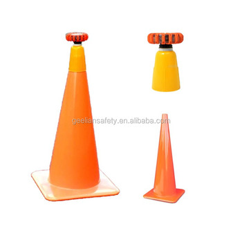 Glow in the Dark Reflective Traffic PVC Road Safety Plastic Cones