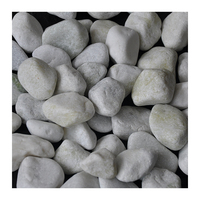 China Supply white natural pebble ball stone for gardening GS-001