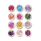 Nail Flower Design Art Flower MCMANN 3D Nail Sticker Flower Pattern Design 12 Colors Nail Art Sequins Stickers For Colorful DIY Women Jewelry Decoration