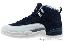 Женские кроссовки Nike Air Jordan 12 Ретро Китайский Новый Год Мужская Обувь Jordan Баскетбольная обувь высокие кроссовки Jordan 881427-122()