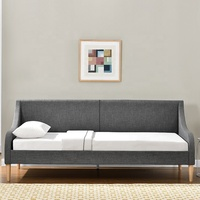 1195-2 Living Room Small Home Style Daybed Linen Fabric Sofa Day Bed